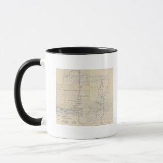 Mug Carte de route de bicyclette du Wisconsin 3