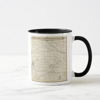 Mug Carte de section de T18S R24E Tulare County
