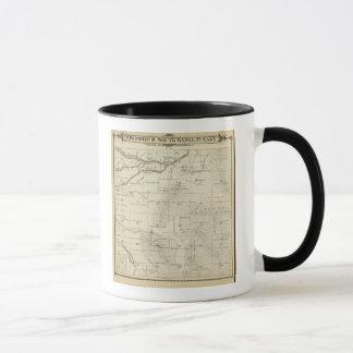 Mug Carte de section de T18S R27E Tulare County