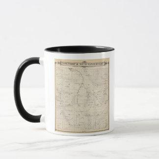 Mug Carte de section de T18S R28E Tulare County