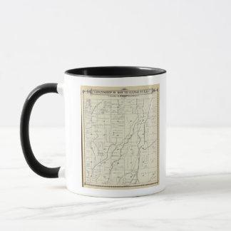 Mug Carte de section de T19S R22E Tulare County