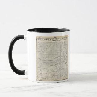 Mug Carte de section de T20S R28E Tulare County