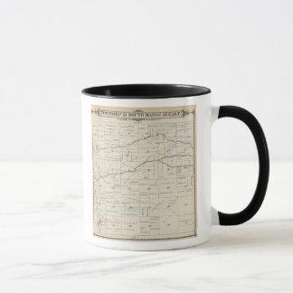 Mug Carte de section de T21S R25E Tulare County