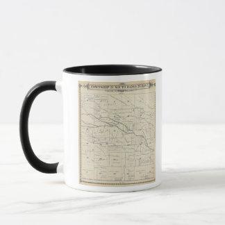 Mug Carte de section de T21S R26E Tulare County
