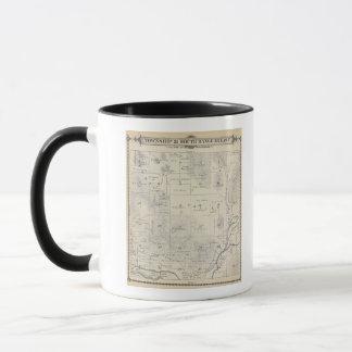 Mug Carte de section de T21S R28E Tulare County