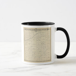 Mug Carte de section de T23S R26E Tulare County
