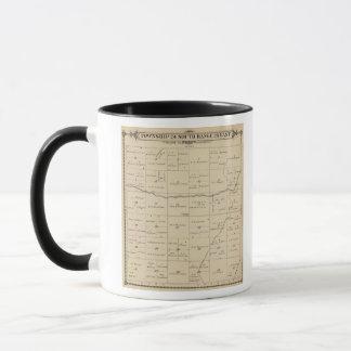 Mug Carte de section de T24S R26E Tulare County