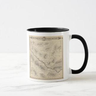 Mug Carte de section de T24S R28E Tulare County