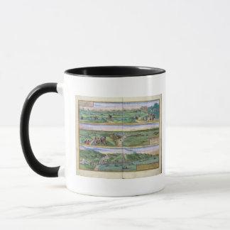 Mug Carte de Séville, de Cadix, et de Malaga, de
