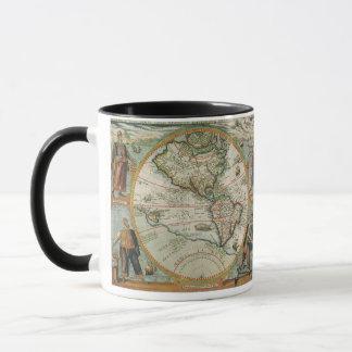 Mug Carte de Vieux Monde antique des Amériques, 1597