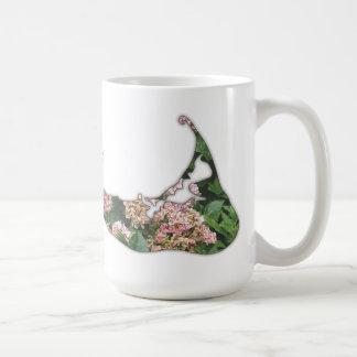 Mug Carte d'hortensia d'île de Nantucket, le