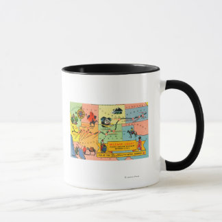 Mug Carte d'hôtel LocationsCA de Fred Harvey à KS