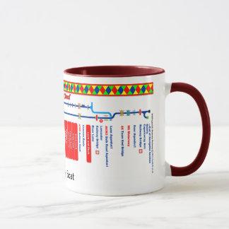 Mug Carte d'itinéraire de canal de Lancaster