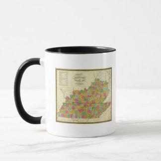Mug Carte du Kentucky et du Tennessee