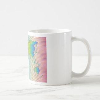 Mug Carte du monde des bandes d'arc-en-ciel