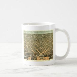 Mug Carte panoramique antique de Lexington KY 1871