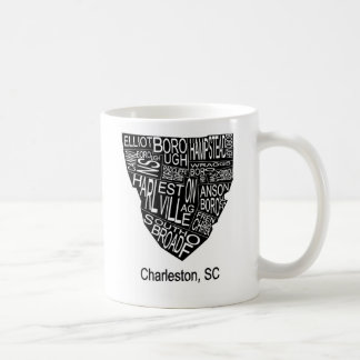 Mug Carte typographique de Charleston