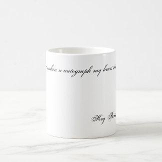 Mug Ce qui compte… quand autographe d'u mon coeur avec