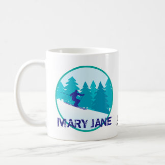 Mug Cercle de ski de Mary Jane personnalisé