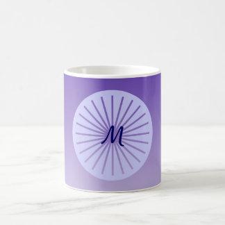 Mug Cercle pourpre de hanche avec des lignes, décorées