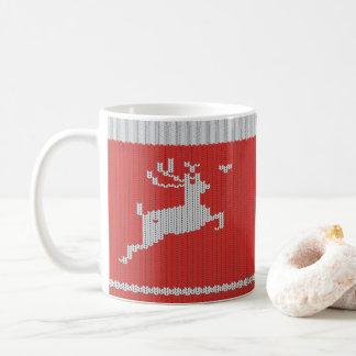 Mug Cerfs communs de chandail pour Noël