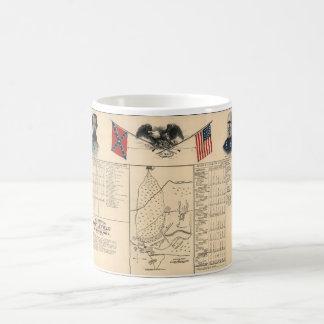 Mug Champ de bataille de guerre civile de la carte