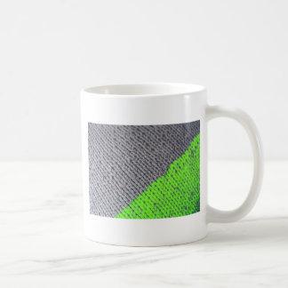 Mug Chandail géométrique vert et gris