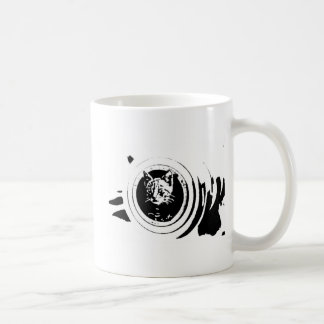 "Mug Chasseur ""chaton de chat de canon ''"