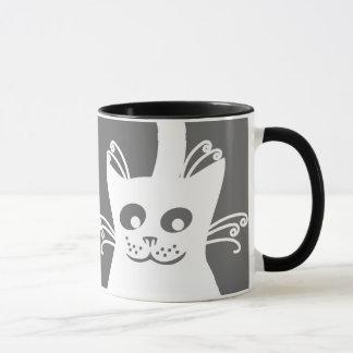 Mug Chat blanc heureux