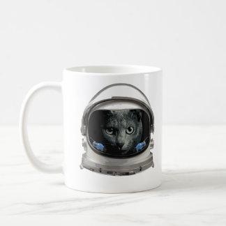 Mug Chat d'astronaute de casque d'espace