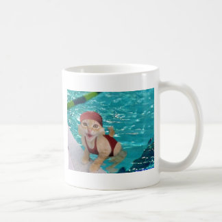 Mug chat de natation