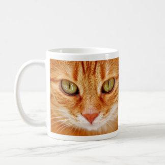 Mug Chat de tigre orange aux yeux verts