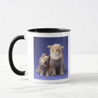 Mug Chat et chien avec des masques