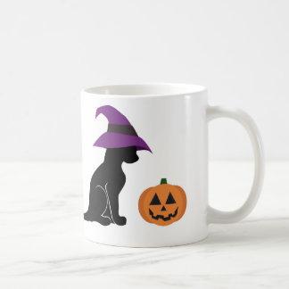 Mug Chat et citrouille de sorcière de Halloween