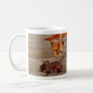 Mug Chat et souris de tigre oranges