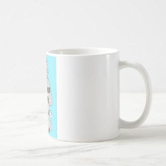 Mug Chat gris sur la béquille, récupération de