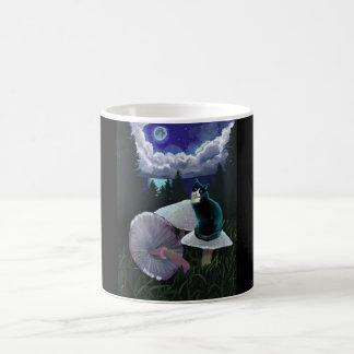Mug Chat mystique de champignon