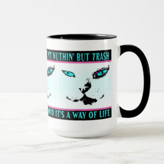 "Mug Chat orienté ""Melvin citation de jazz du chat"" -"