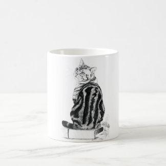 Mug Chat tigré argenté