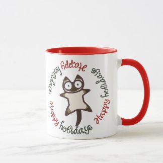 Mug Chats siamois et gris bonnes fêtes