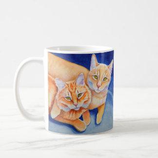 Mug Chats tigrés oranges de caresse