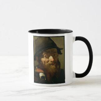 Mug Chef d'un vieil homme, détail de portrait d'un