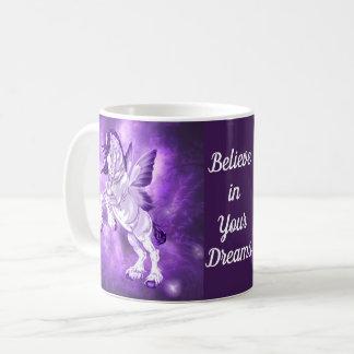 Mug Cheval de Clydesdale à ailes par fée d'imaginaire
