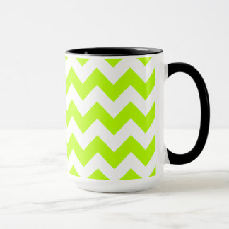 Mug Chevron Chartreuse ; Regard de tableau