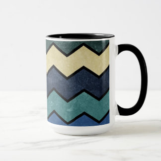 Mug Chevrons bleus virils modernes