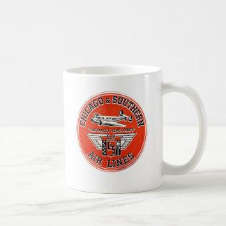 Mug Chicago et compagnies aériennes du sud logo