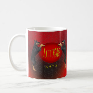Mug Chien de monogramme de Kato