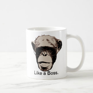Mug Chimpanzé de style en verres