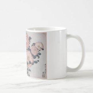 Mug Chrysanthèmes et taon par Katsushika Hokusai