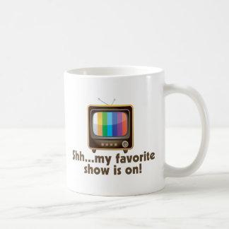 Mug Chut mon exposition préférée est à la télévision